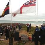 Ceremonia conmemorativa en Freshwater West por buques hundidos durante la guerra