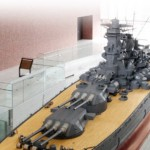 Modelo a escala de 26 metros del acorazado Yamato