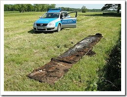 The remains of a British tank and its former occupants had been discovered by a farmer mowing his field in Kutenholz, a municipality near the German city of Stade, in Lower Saxony.
