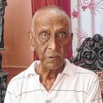 Despedida a soldado veterano francés David Gabriel de Puducherry
