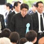 Primer Ministro Abe fue abucheado en ceremonia por el 70º aniversario de la Batalla de Okinawa