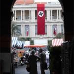 En Niza causa enojo pancarta con la esvástica para película sobre la Segunda Guerra Mundial
