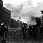 La devastación de Ginza por las bombas estadounidenses en exposición fotográfica