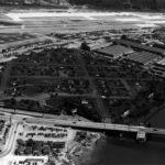 Vecindario de camuflaje ocultaba una planta de Boeing en 1944