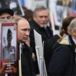 Se realiza en Rusia la Marcha del Regimiento Inmortal