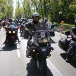 Motociclistas rusos Lobos de la Noche llegaron a Berlín.