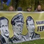 Marcha de simpatizantes nazis en Kiev