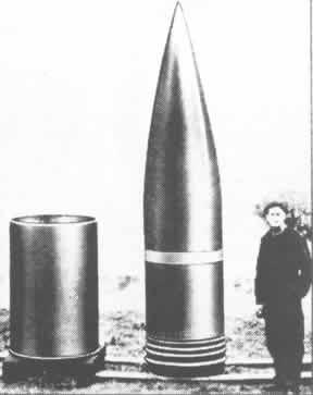 Cañón Dora ('Schwere Gustav) Dora-granada