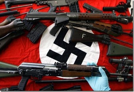 armas incautadas por la policía alemana