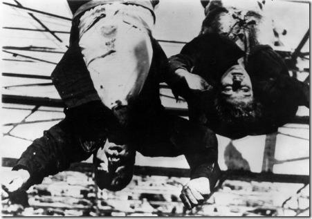 Mussolini y su amante Clara Petacci