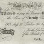 Durante la guerra billetes falsificados golpearon la confianza en la libra esterlina
