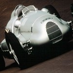 A subasta un auto de carreras Auto Union Tipo D fabricado en 1939 por Ferdinand Porsche