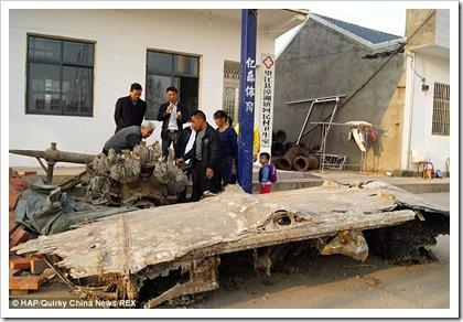 restos-b-25_en_china