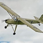 Volando en un Fieseler Fi 156 Storch de la Segunda Guerra Mundial