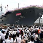 El portahelicópteros Izumo fue puesto en servicio como la nave más grande de la flota japonesa
