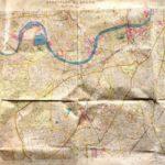 A subasta mapa de bombardeo de la Luftwaffe que muestra objetivos en Londres