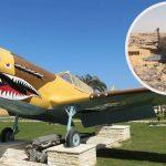 El caza P-40 encontrado en el desierto ha sido muy mal restaurado