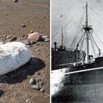 Bloques de manteca de cerdo de barco hundido en 1941 aparecen varados en una playa de Escocia