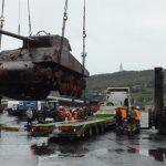 Recuperan tanque Sherman de barco hundido hace más de 70 años en las heladas aguas de Murmansk