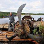 Avión ruso de la Segunda Guerra Mundial recuperado de lago 75 años después de ser derribado
