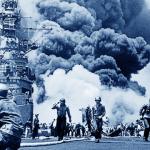Video del USS Melvin luchando contra kamikazes en la Segunda Guerra Mundial